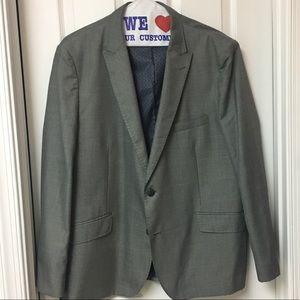 Haggar Light Grey Checked Sports Jacket